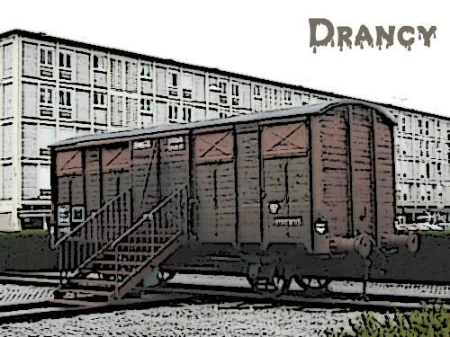 wagon du Mémorial de la Shoah à Drancy (93)